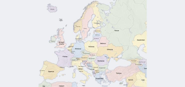Avrupa Kıtası'ndaki Ülkeler Ve Başkentleri