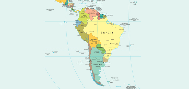 Güney Amerika Kıtası Haritası