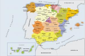 İspanya Haritasi