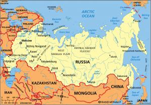 Rusya Federasyonu Siyasi Haritasi