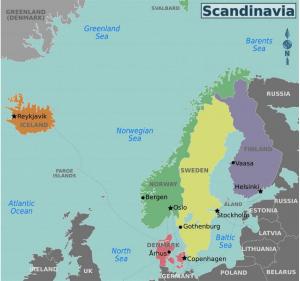 İskandinav Ülkeleri Haritası