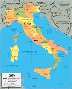 İtalya Haritası