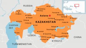 Kazakistan Haritası