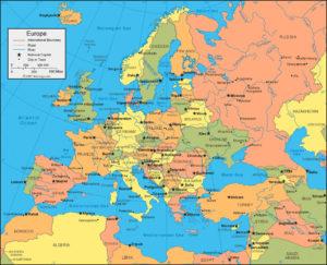 Avrupa Kıtası Haritası