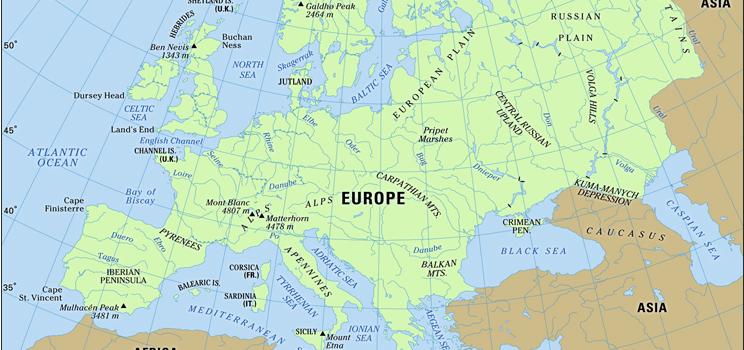 Avrupa Kıtası Hakkında Bilgi