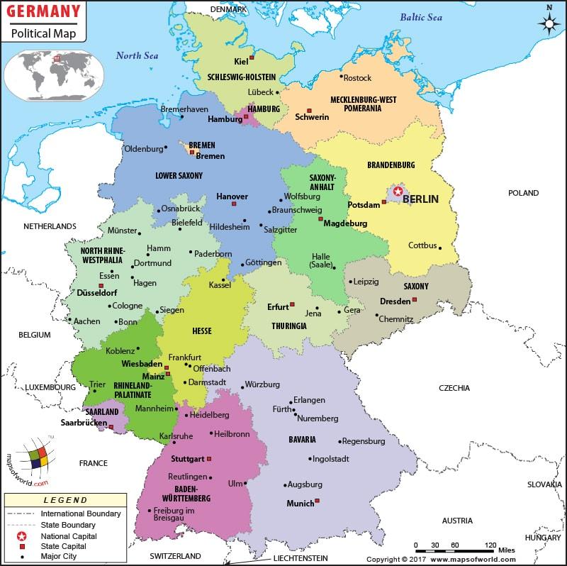 Almanya Siyasi Haritası